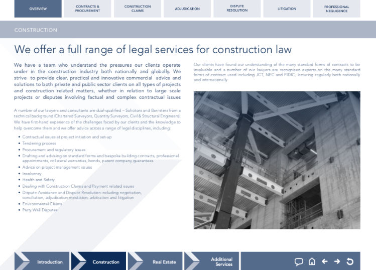 Construction and Property law brouchure
